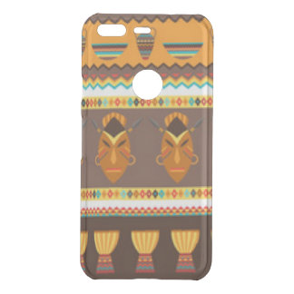 African Mask Drum Pattern Print Design Uncommon Google Pixel Case
