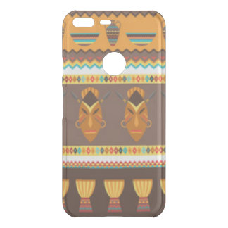 African Mask Drum Pattern Print Design Uncommon Google Pixel XL Case