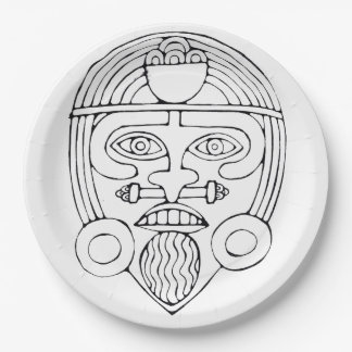 African mask - Mask Party plate