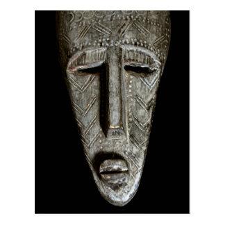 African mask postcard
