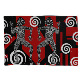 African masked dancers Pillowcase