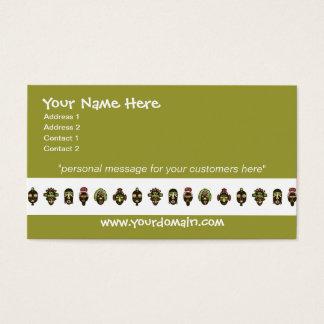 African Masks Business Cards