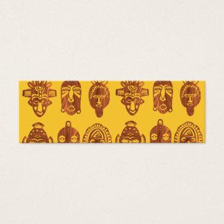 African Masks Skinny business cards