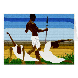 African Mating Ritual Card