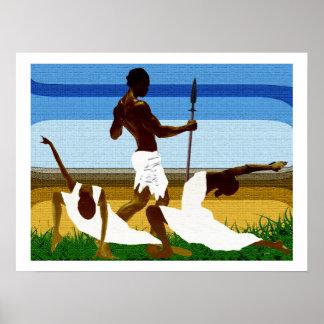 African Mating Ritual Poster