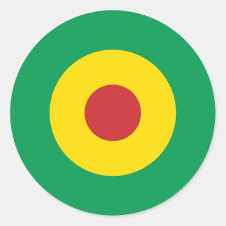 African Mod Round Sticker