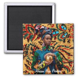African Mojo Princess Square Magnet