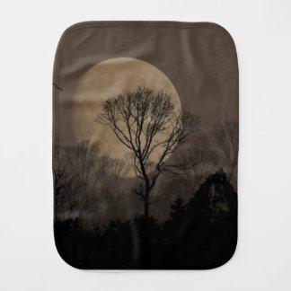 african moon burp cloth