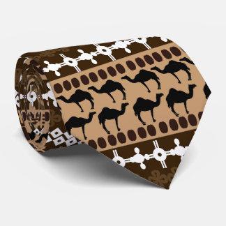African Motif, Animals, Horizontal Stripes Tie
