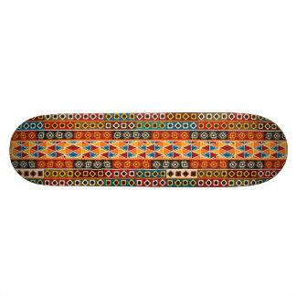 African Motif Colorful Decorative Pattern Design 18.1 Cm Old School Skateboard Deck