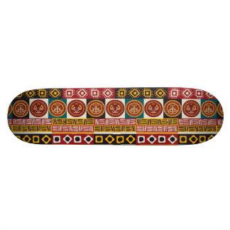 African Motif Colorful Decorative Pattern Design Skate Decks