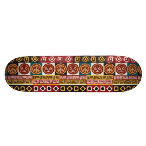 African Motif Colorful Decorative Pattern Design Skateboard Decks