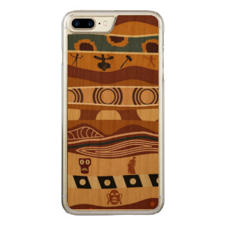 African Motifs Ethnic Art Earth Tone Carved iPhone 8 Plus/7 Plus Case