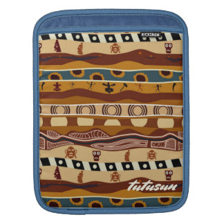 African Motifs Ethnic Art Earth Tone Personalized iPad Sleeve