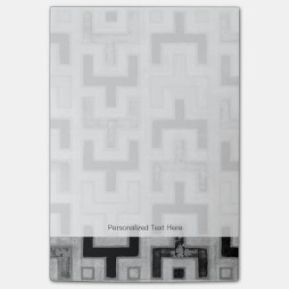 African Mudcloth Textile with Geometric Patterns Post-it® Notes