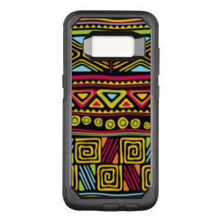 African Multi Color Pattern Design OtterBox Commuter Samsung Galaxy S8 Case
