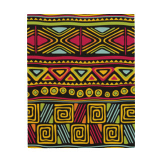 African Multi Color Pattern Print Design