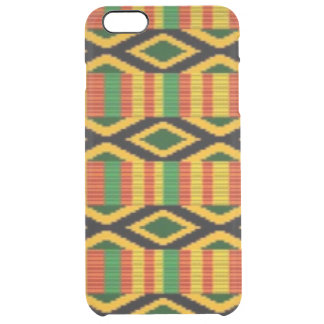 African Multi Color Pattern Print Design Clear iPhone 6 Plus Case