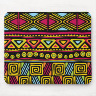 African Multi Color Pattern Print Design Mouse Pad