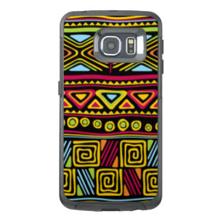 African Multi Color Pattern Print Design OtterBox Samsung Galaxy S6 Edge Case