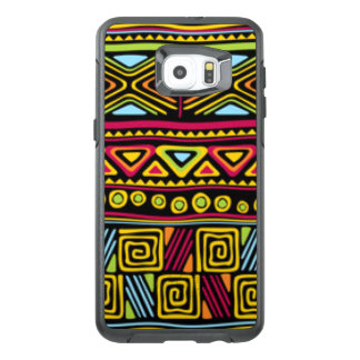 African Multi Color Pattern Print Design OtterBox Samsung Galaxy S6 Edge Plus Case