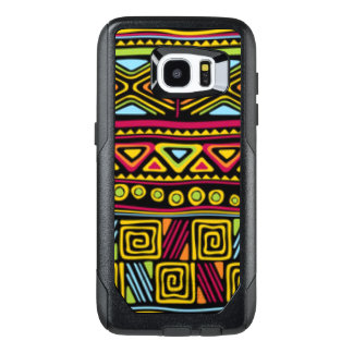African Multi Color Pattern Print Design OtterBox Samsung Galaxy S7 Edge Case