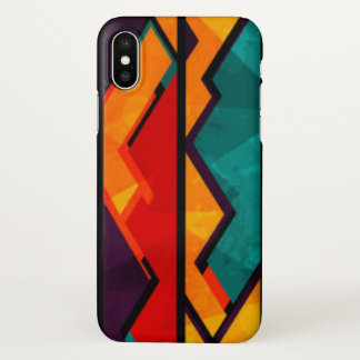 African Multi Colored Pattern Print Design iPhone X Case