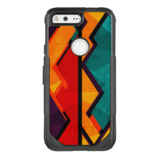 African Multi Colored Pattern Print Design OtterBox Commuter Google Pixel Case
