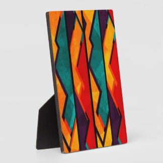 African Multi Colored Pattern Print Design Plaque