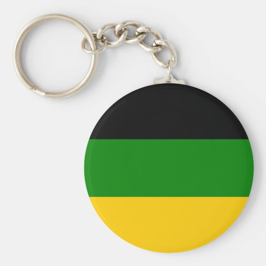 African National Congress ANC South Africa Basic Round Button Key Ring