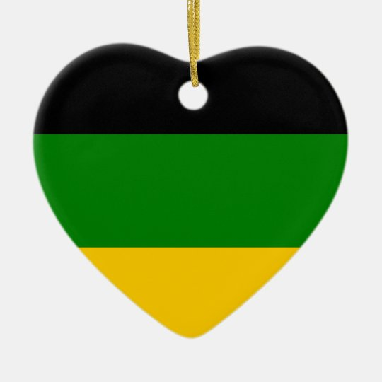 African National Congress ANC South Africa Ceramic Heart Decoration