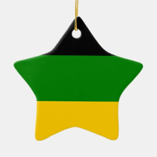 African National Congress ANC South Africa Ceramic Star Decoration