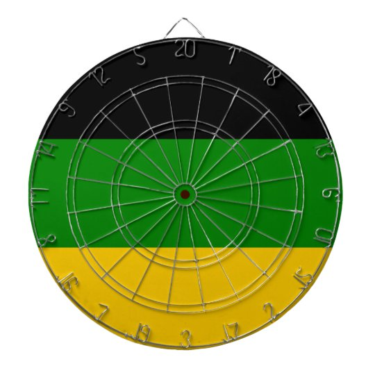 African National Congress ANC South Africa Dartboard With Darts