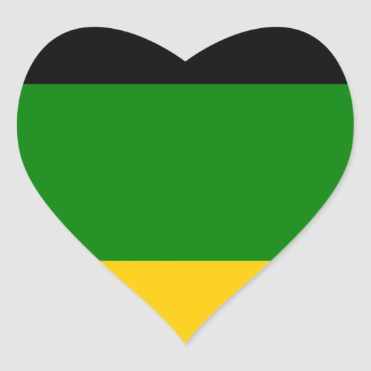 African National Congress ANC South Africa Heart Sticker