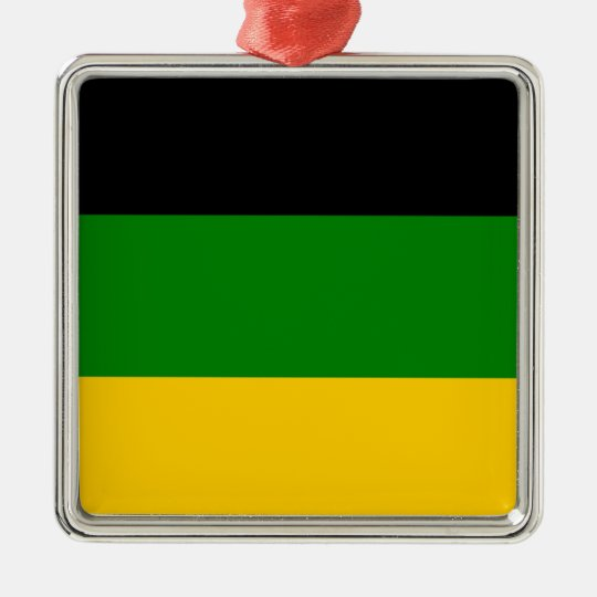 African National Congress ANC South Africa Silver-Colored Square Decoration