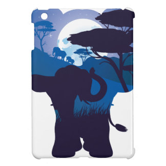 African Night with Elephant 4 iPad Mini Covers
