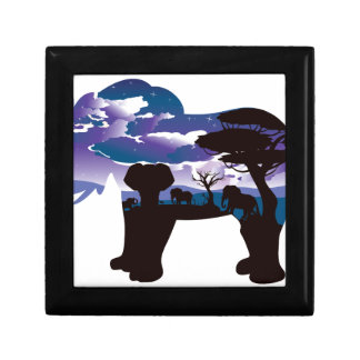 African Night with Elephant 5 Gift Box