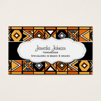 African Pattern Business Cards