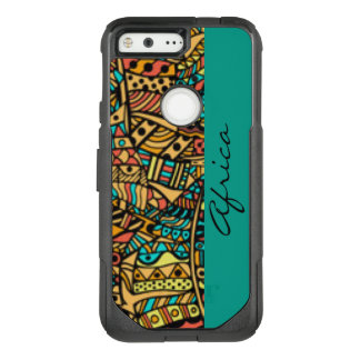African Pattern Print Design Typography OtterBox Commuter Google Pixel Case