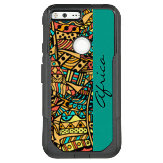 African Pattern Print Design Typography OtterBox Commuter Google Pixel XL Case