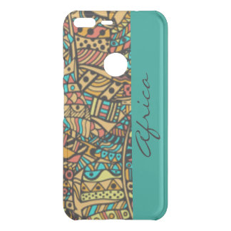 African Pattern Print Design Typography Uncommon Google Pixel XL Case