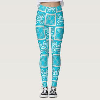 african  pattern with simbols leggings