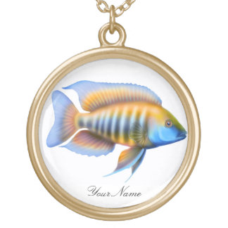 African Peacock Cichlid Fish Necklace