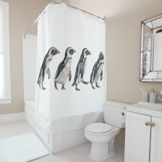 African Penguin Row Shower Curtain