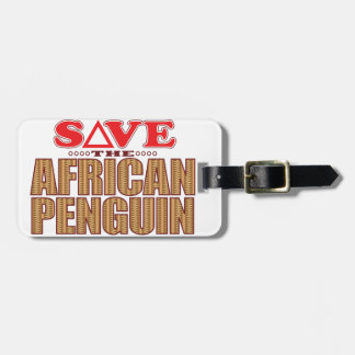 African Penguin Save Luggage Tag