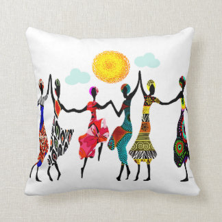 African Praise Dance Cushion