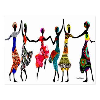 African Praise Dance Postcard
