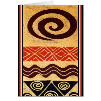 African Primordial Decor Card