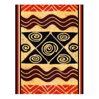 African Primordial Decor Postcard