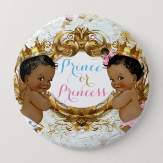 African Prince or Princess Gender Reveal Button